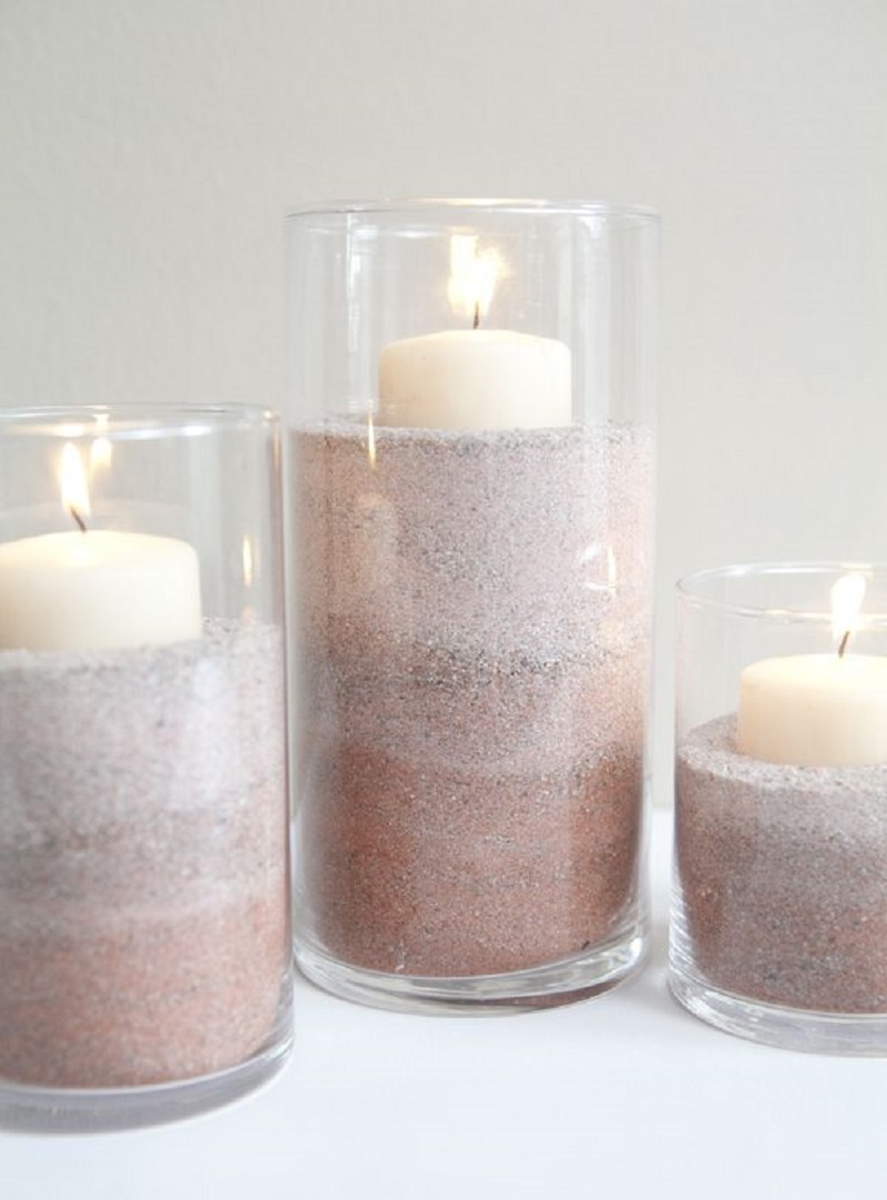 Ombre sand centre pieces