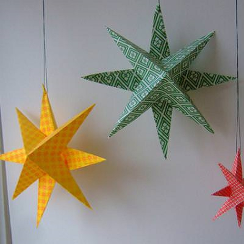 Origami star lamps
