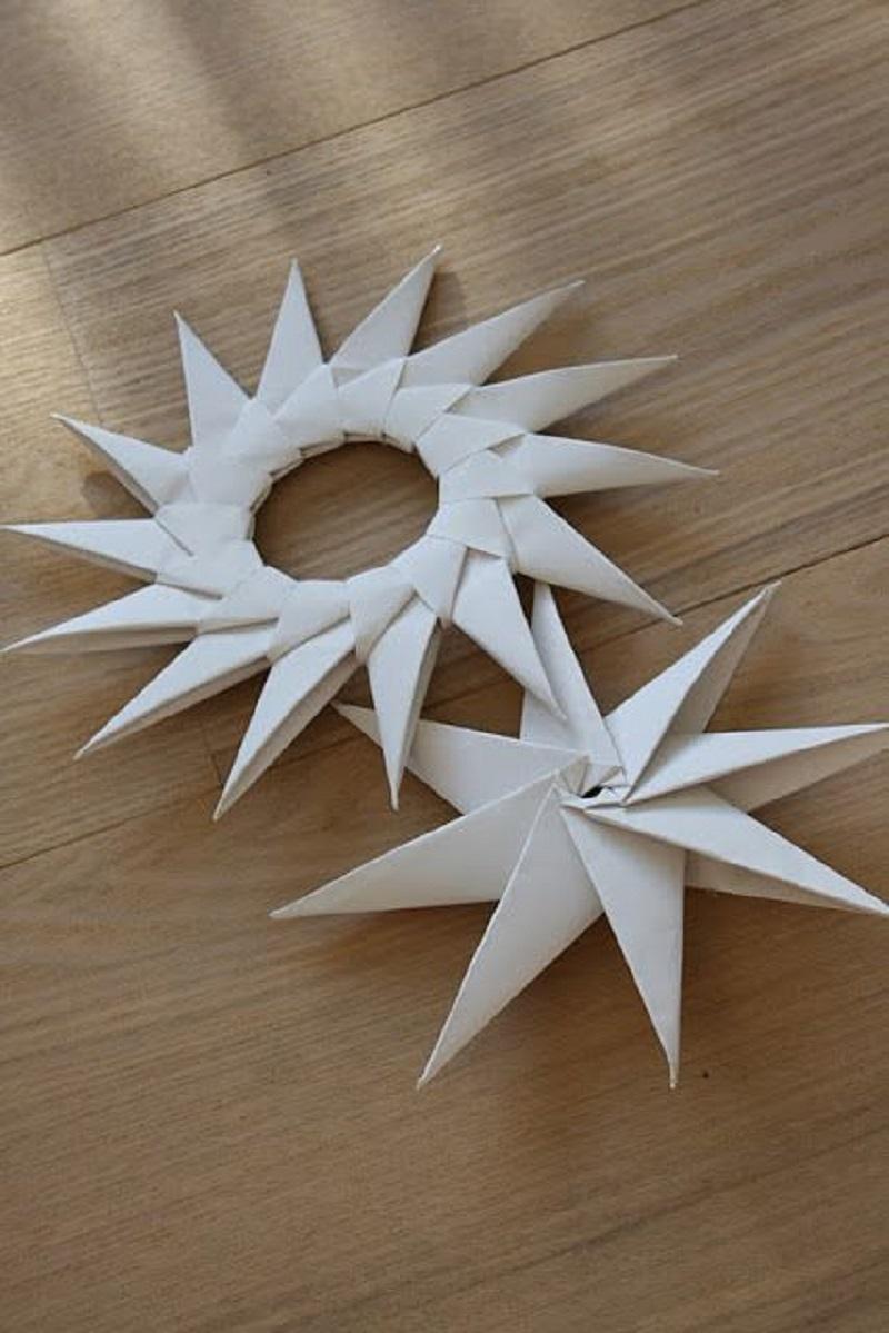 Origami star rings