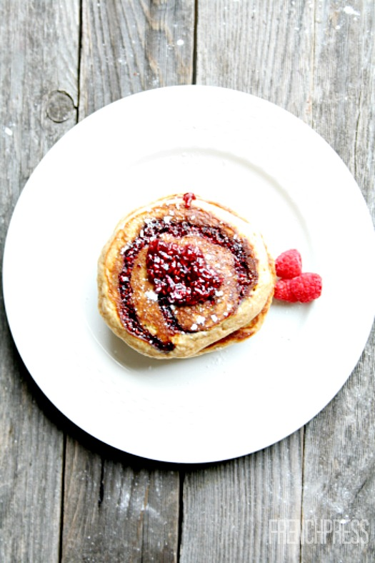 Pancakes with raspbery swirl recipe