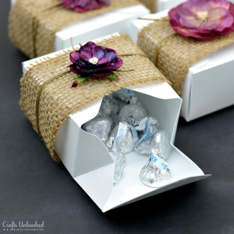 Rustic diy gift boxes