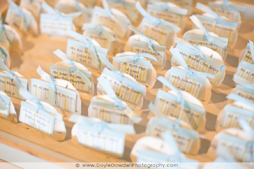 Sand dollar place cards
