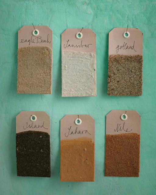 Sand memory tags