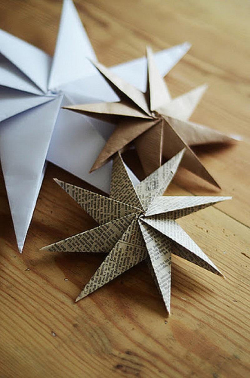 Scrap paper multi point stars