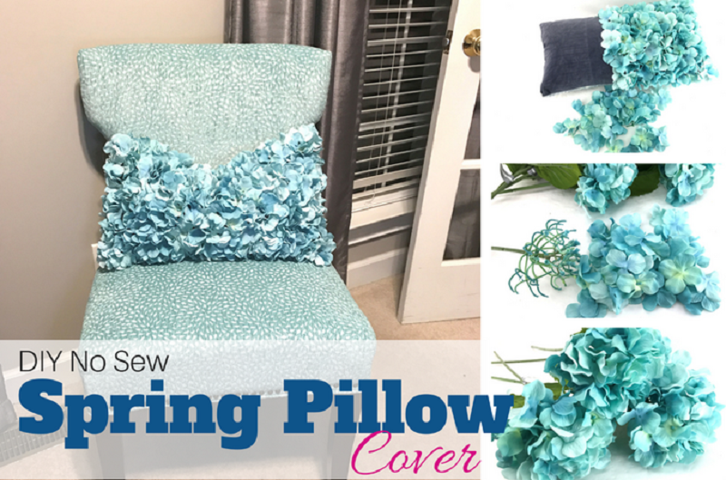 Silker flower spring pillow