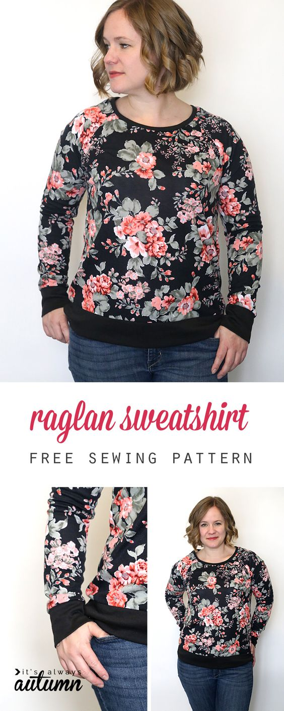 Simple raglan sweatshirt
