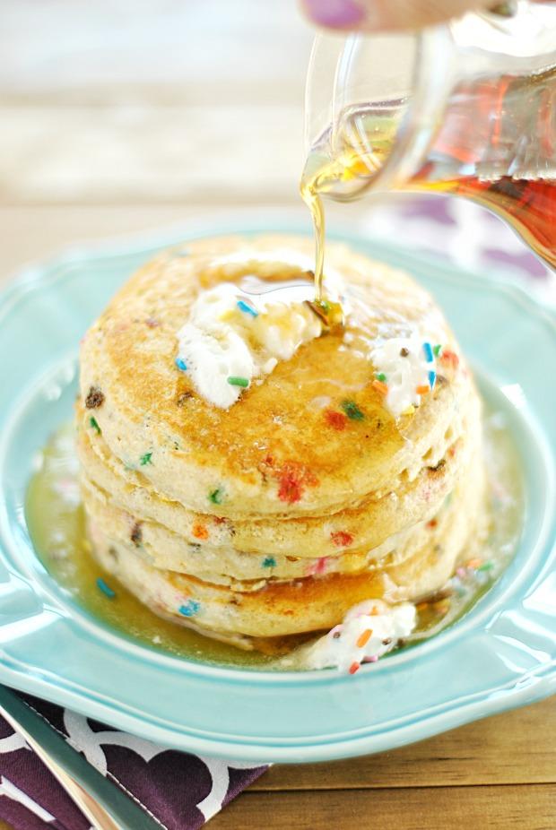 Skinny funfetti pancakes recipe