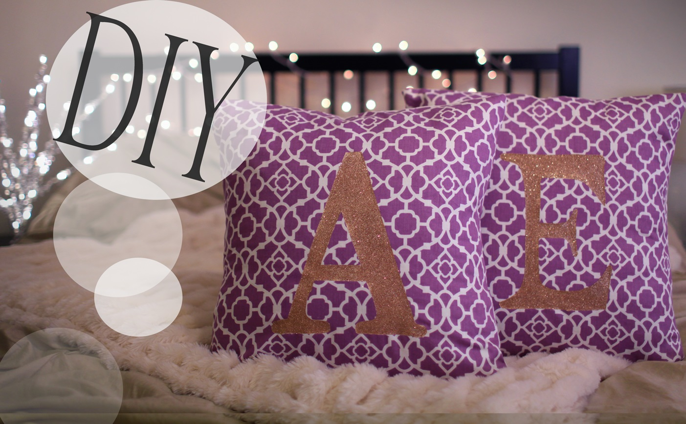 Sparkly monogrammed pillow cases
