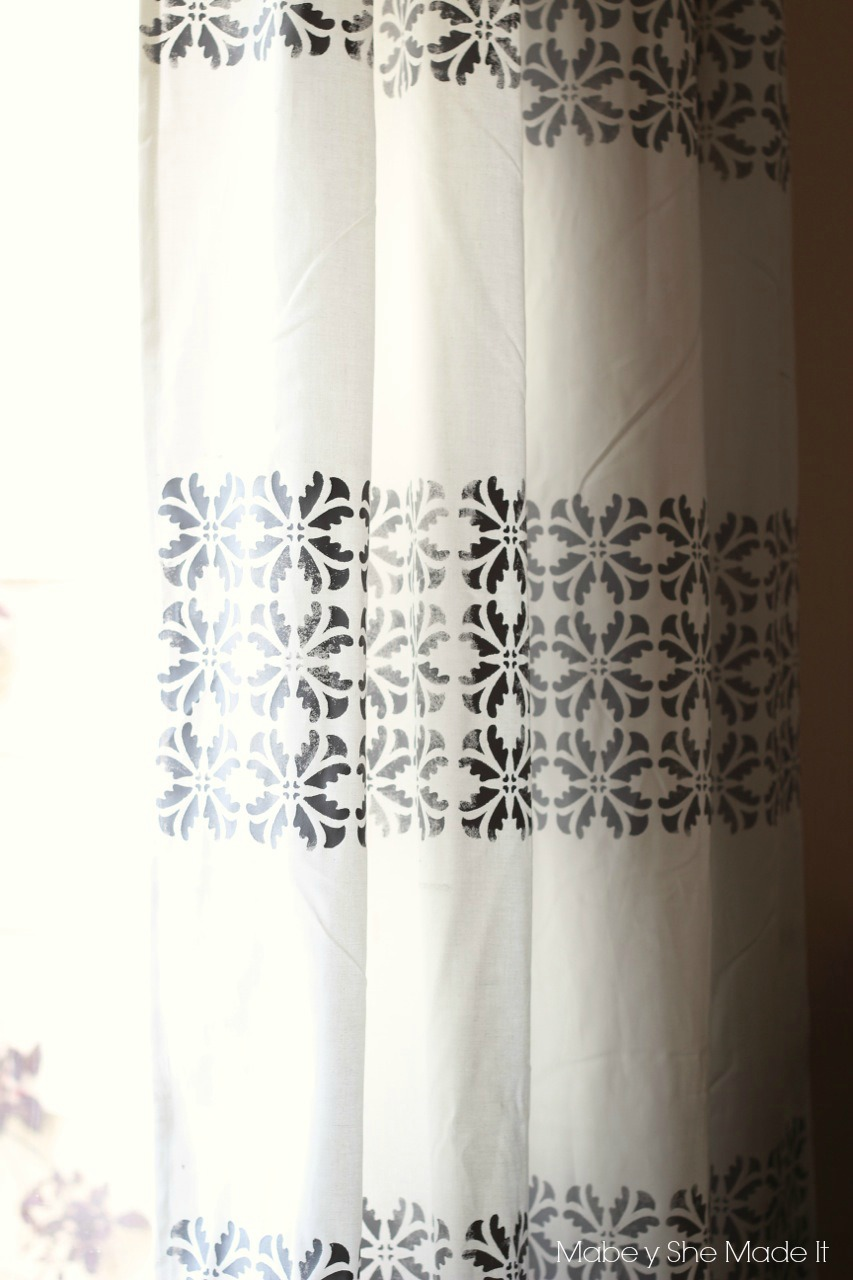 Stencil block curtains