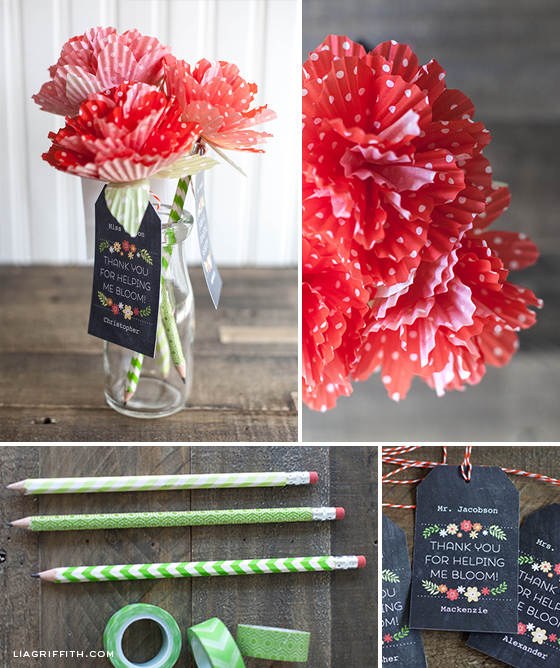 Teacher appreciation flower diy