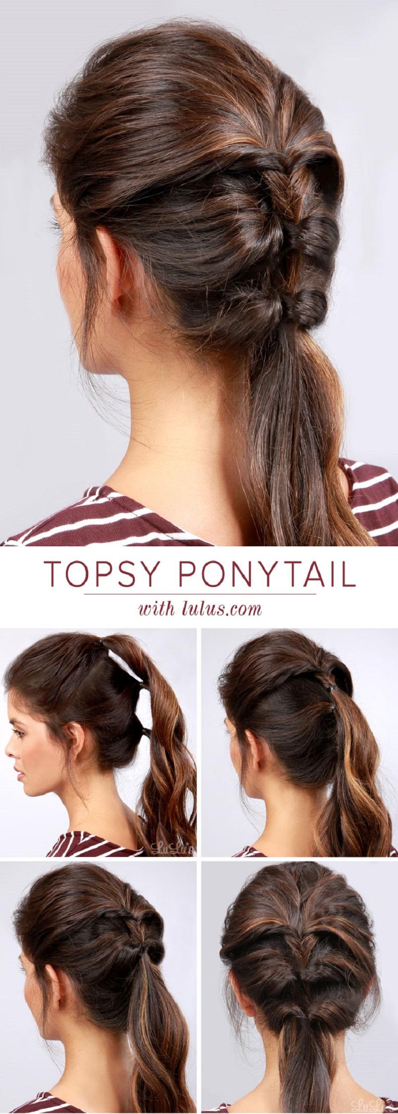 Topsy ponytail