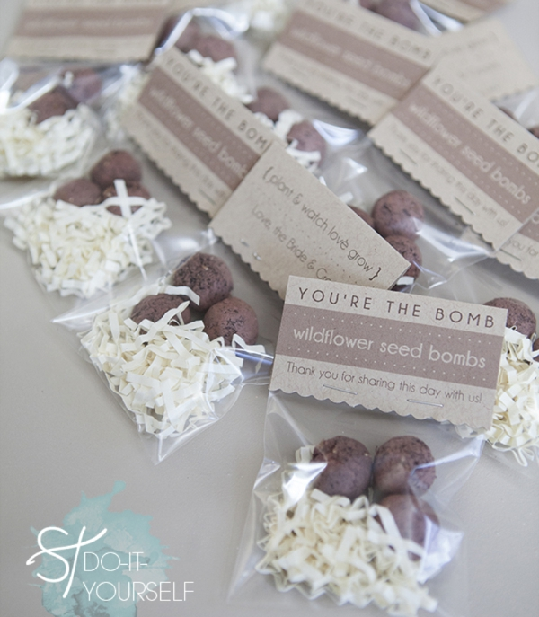 Wildflower seed bombs favors