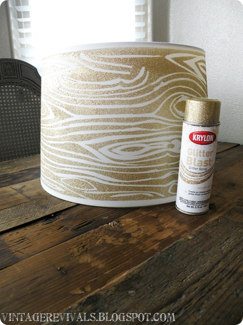 Wood grain lamp shade diy