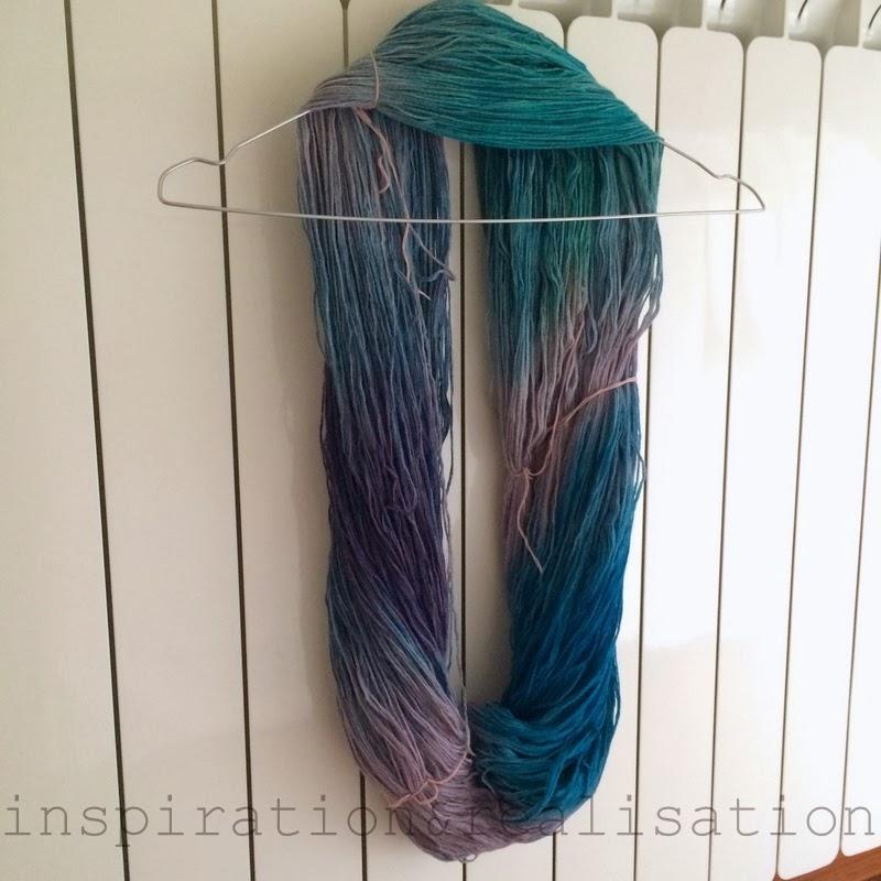 Yarn dye dry process