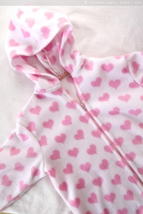 Zipping baby hoodie