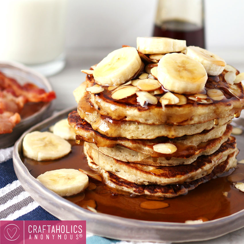 Almond banana pancakes recipe