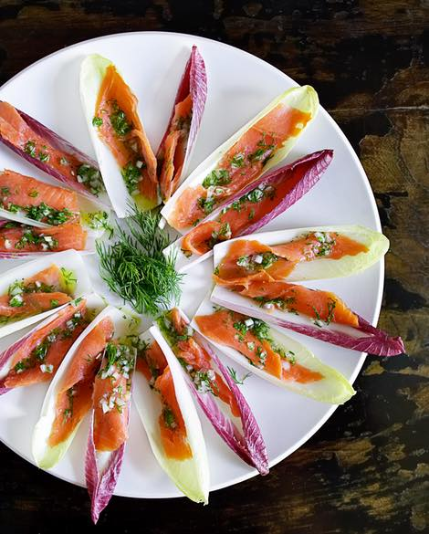Best endive spears smoked salmon lemon dill vinaigrette recipe