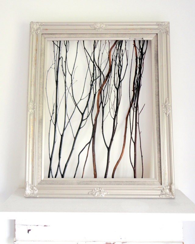 Branch framed art diy