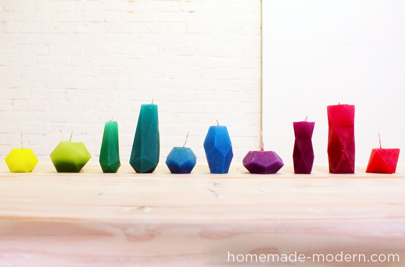 Bright geometric candles