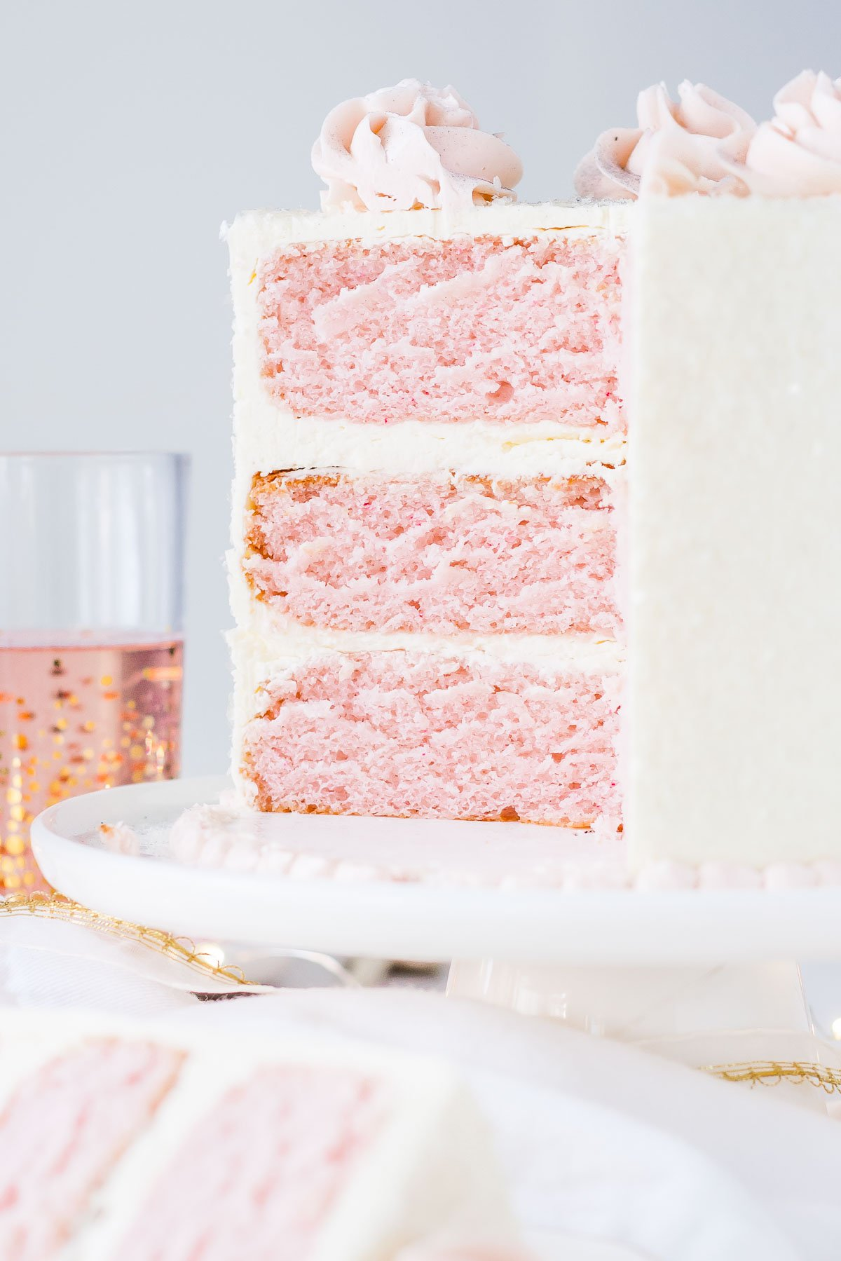 Champagne cake pink recipe