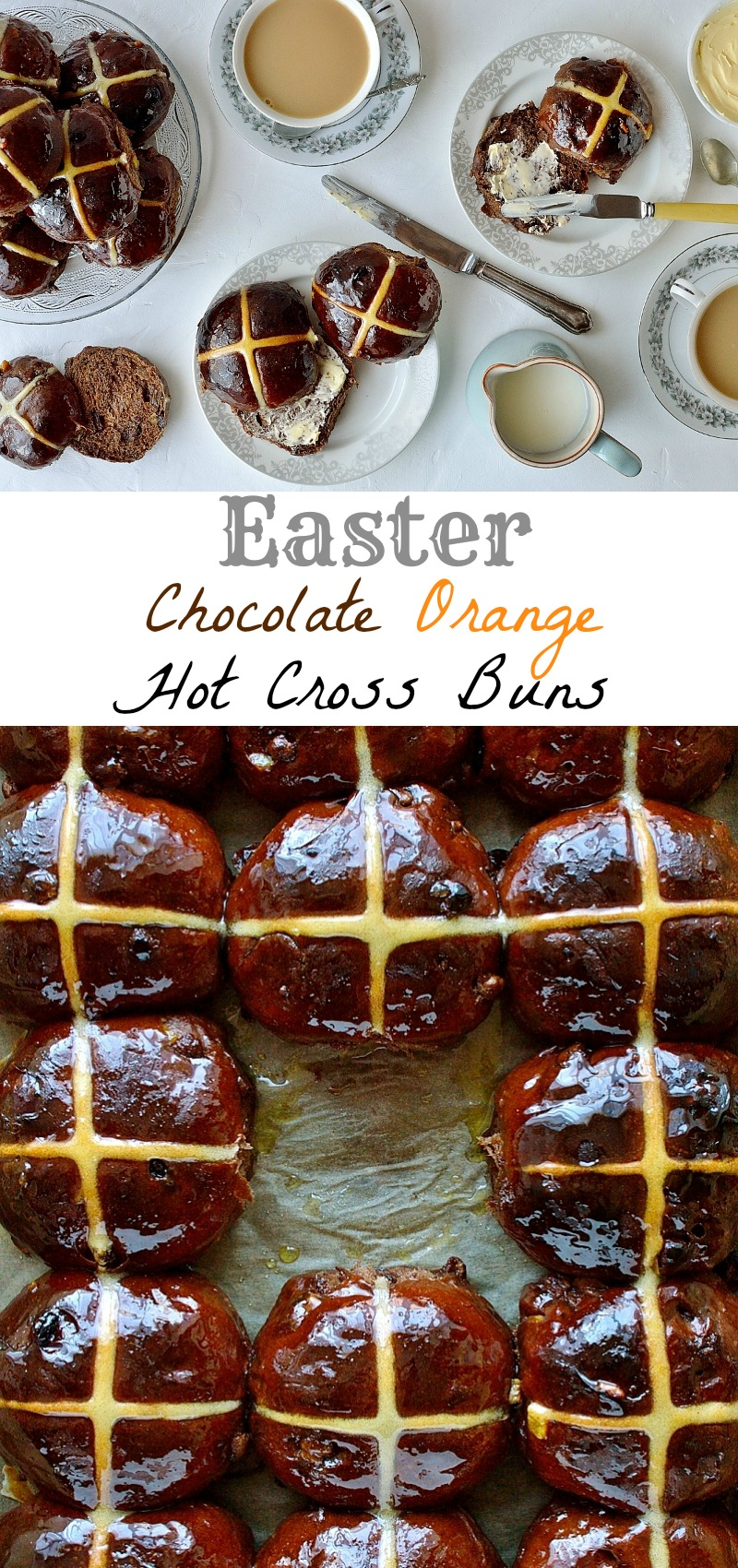 Chocolate orange hot cross buns pinterest
