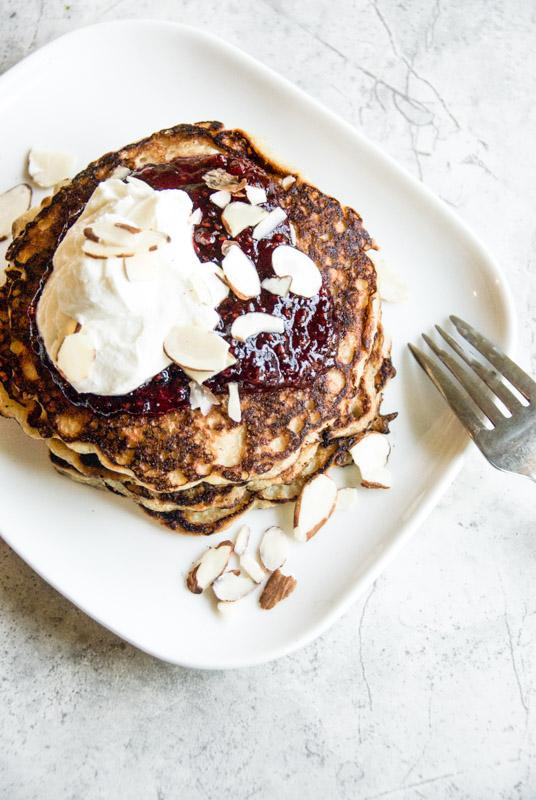 Cocnut oat pancakes recipe