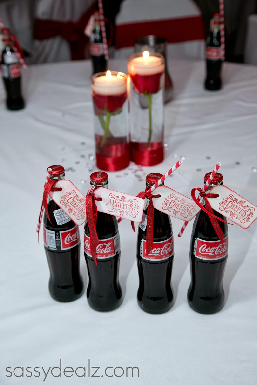 Coke bottle wedding favor diy