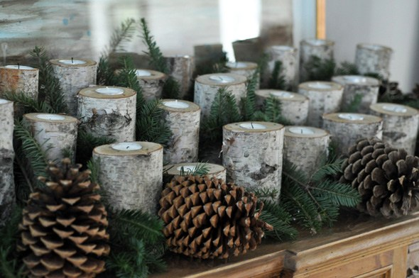 diy birch candleholders