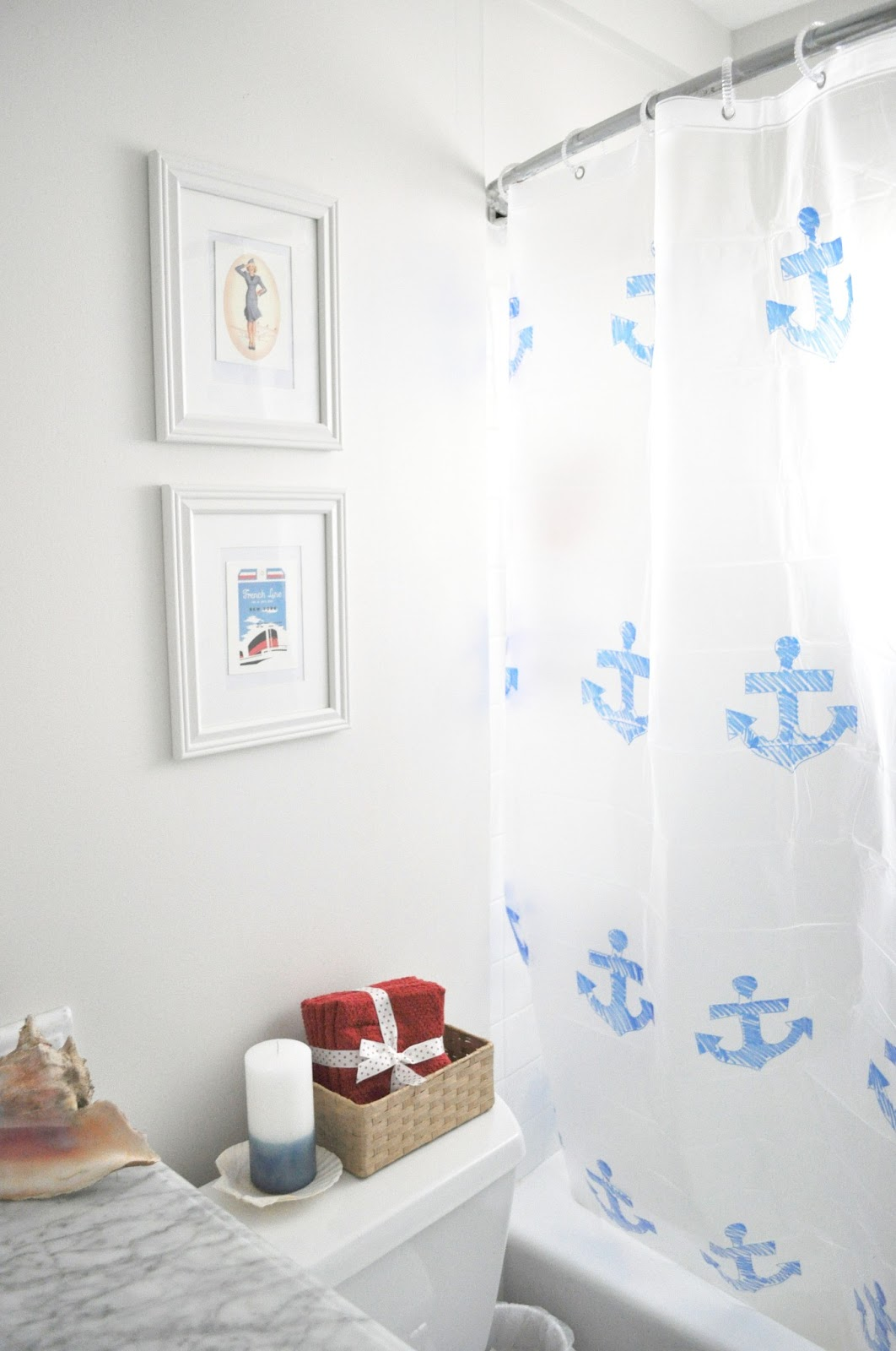 Diy anchor shower curtain