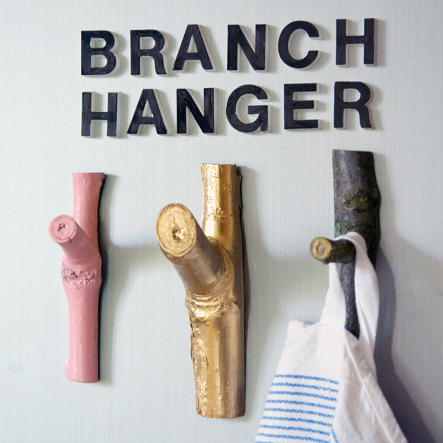 Diy branch hanger magnets