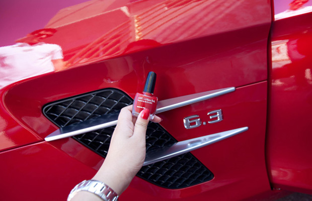 Diy car scratch hack with nail polish