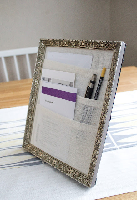 Diy framed desk organizer