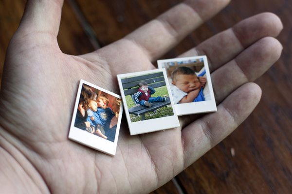 Diy mini polaroid magnets