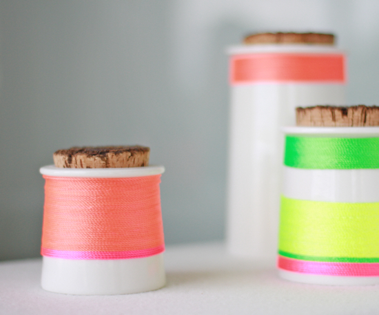 Diy neon kitchen canisters