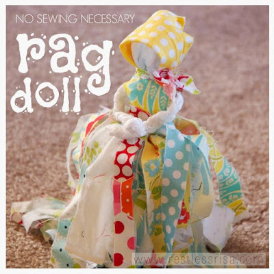 Diy no sew rag dolls