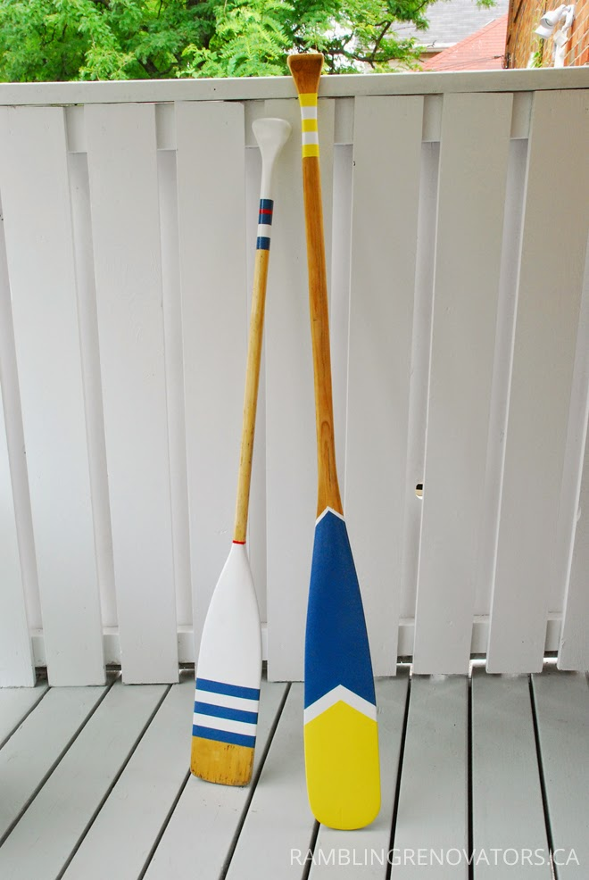 Diy painted oars