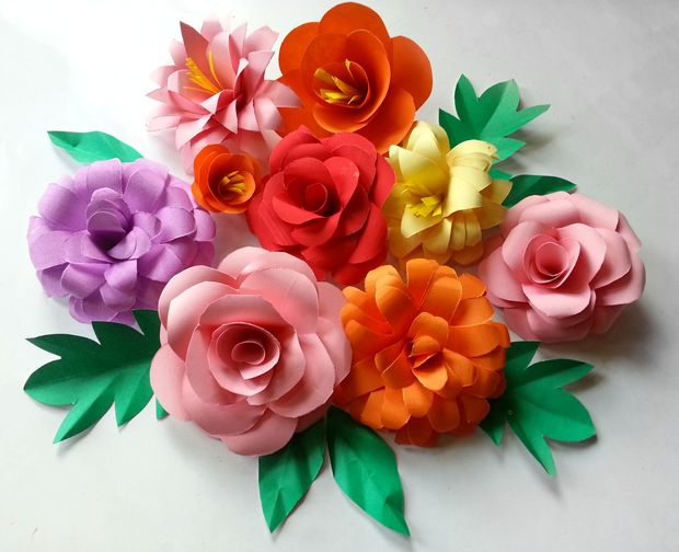 Diy paper flower spring bouquet