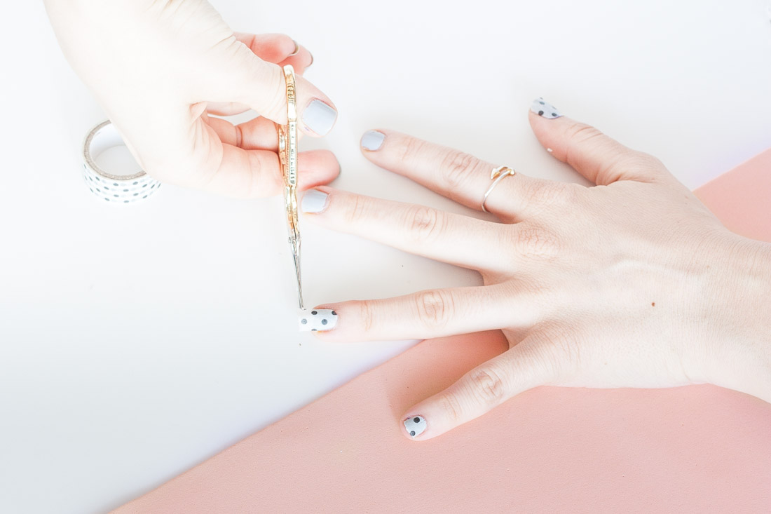 Diy washi tape nails cut