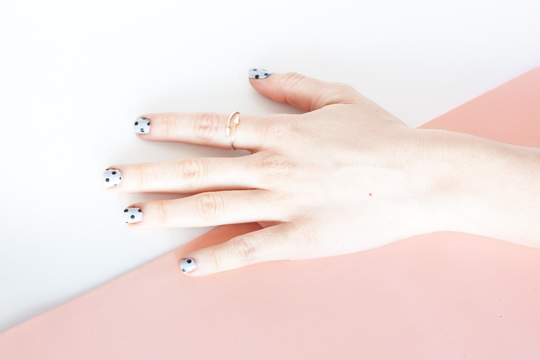 Diy washi tape nails set4