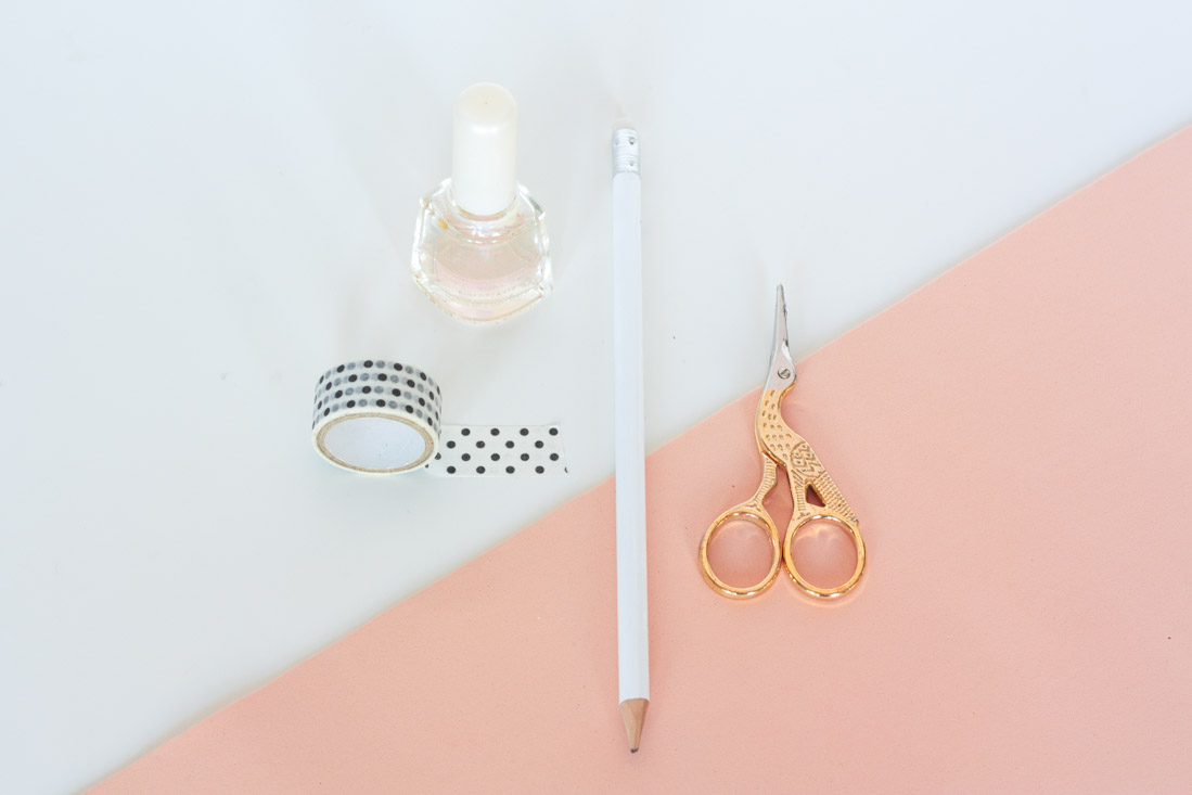 Diy washi tape nails supplies