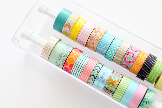 Diy washi tape organizer