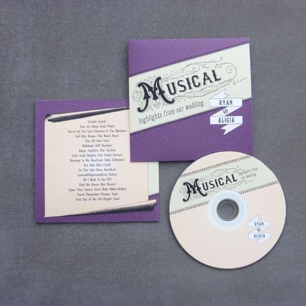 Diy wedding favors cd covers