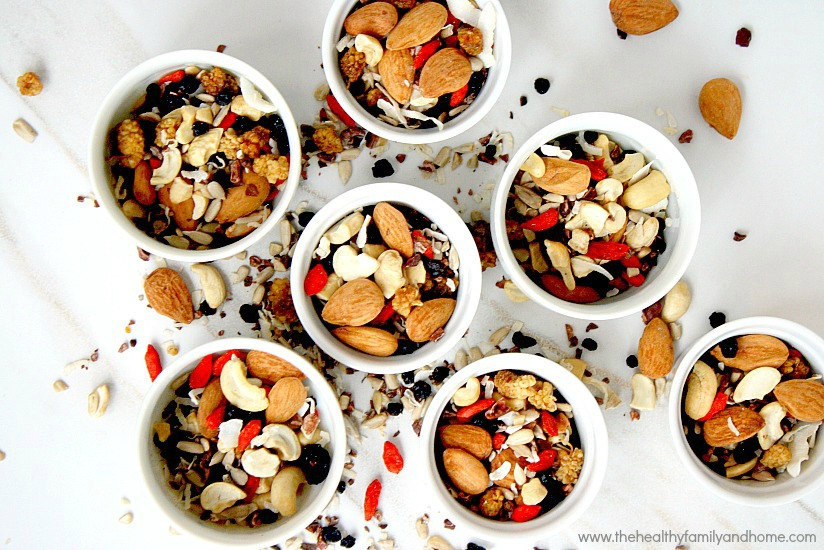 Fruit seed nut detox snack mix