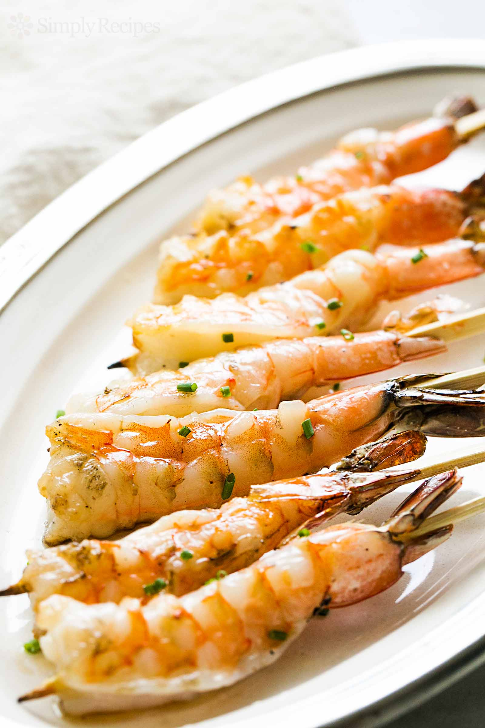 Grilled shrimp garlic skewers
