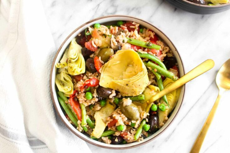 How to make a vegetable paella