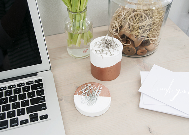 Magnetic desk accessories diy