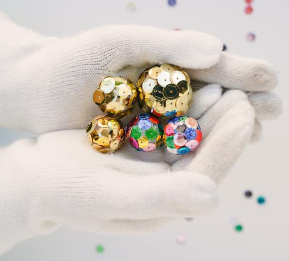 Mini disco balls party favor diy