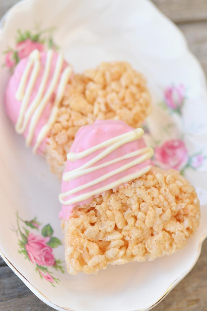 Rice krispies treats hearts diy