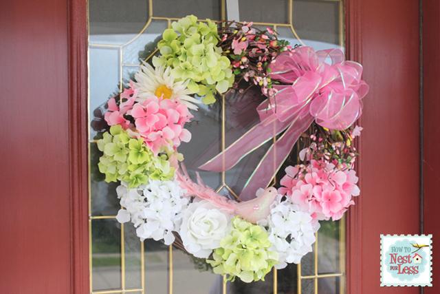 Spring birdie wreath diy
