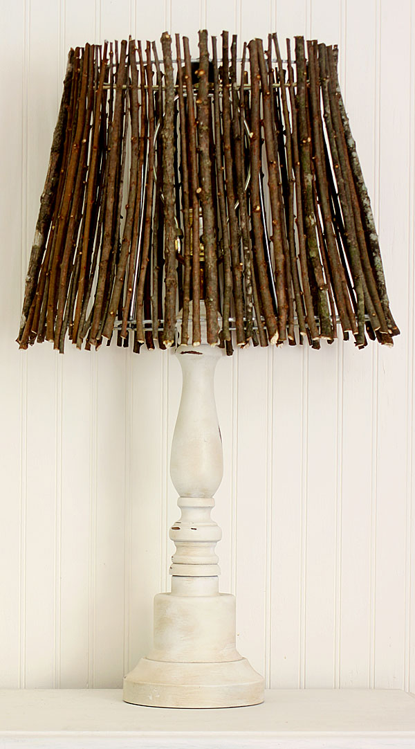 Twig lampshade diy